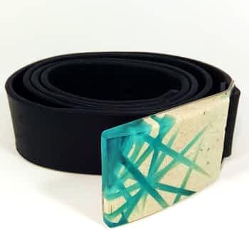 Pánský pásek s přezkou z betonu, široký 4 cm, černý