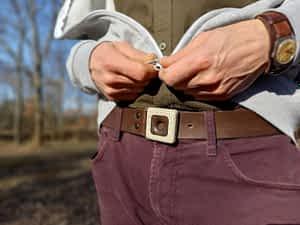pánské opasky s přezkou FOP belts
