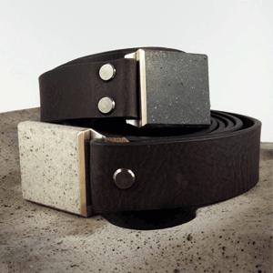 Kožené opasky FOP belts s betonovou sponou, široké 4 cm, Czech design shop  s opasky FOP belts
