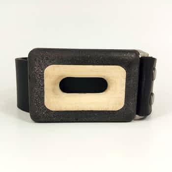Dámský / Pánský páseks přezkou široký 4 cm, černý