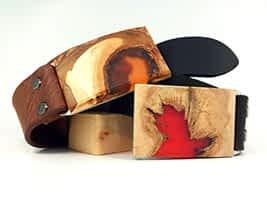 Dřevěné přezky na opasky FOP, série Nature