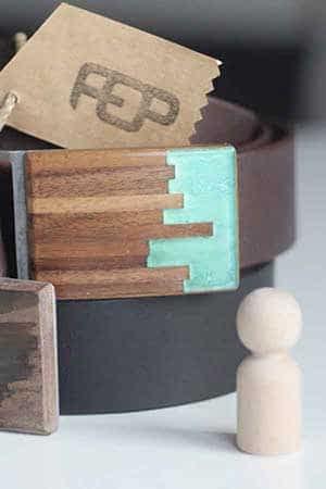 Czech design shop s opasky FOP belts - kožené pásky široké 4 cm