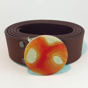 Pánský nebo dámský kožený pásek široký 4 cm hnědý nebo černý široký 4 cm
